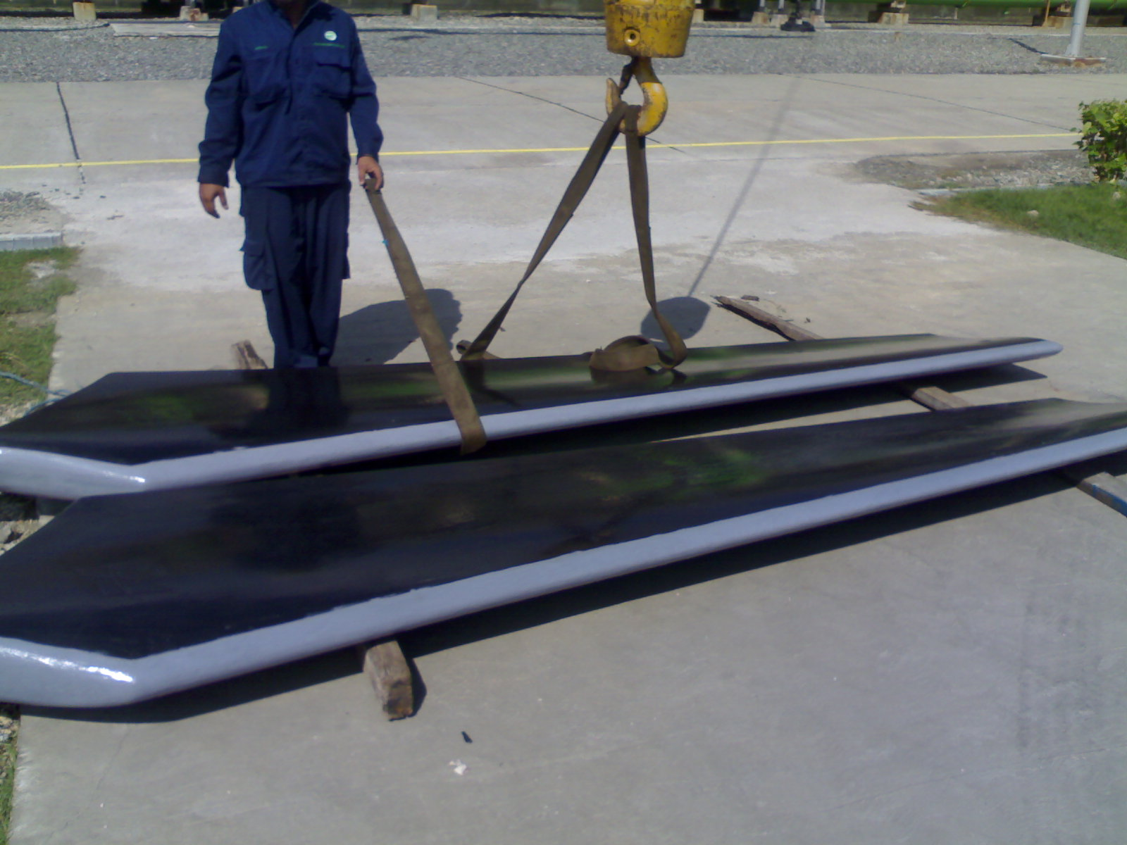 Beautiful Cooling Tower Fan Blades Repaired With Belzona YY41